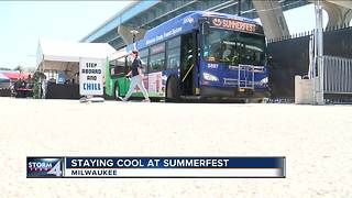 Milwaukee County buses used as cooling stations at Summerfest