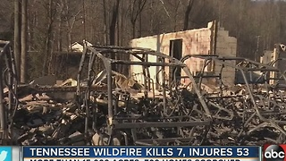 Tennessee wildfire kills 7, injures 53