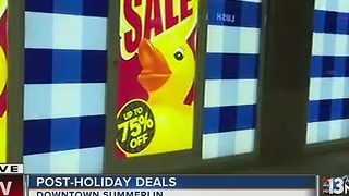 Shoppers taking advantage of post-holiday deals - Video