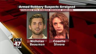 Meridian Township armed robbery suspects arraigned - Video