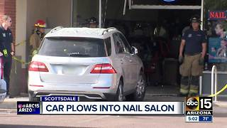 Car crashes into nail salon in Scottsdale - Video