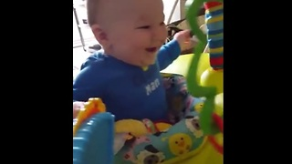 Toddler finds playful dog simply hilarious - Video
