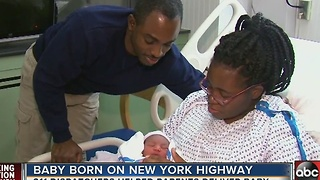 Baby Girl Born on Side of Highway Amid Thanksgiving Traffic - Video