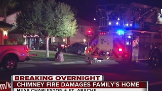 Family displaced by chimney fire - Video