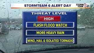 ALERT: Flooding & Severe Storms Possible - Video