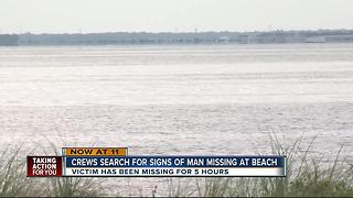 Search for missing swimmer - Video