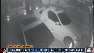 Car burglaries on the rise around the Bay area - Video