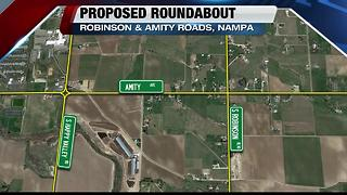 Robinson & Amity Roads roundabout - Video