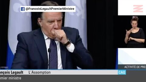 Legault Coughed Into His Hand On Live Video & Immediately Knew He Messed Up (Video)