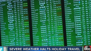 Severe weather halts holiday travel - Video
