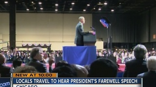 President Barack Obama says goodbye