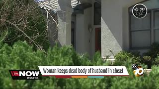 Woman kept husband's body in closet - Video