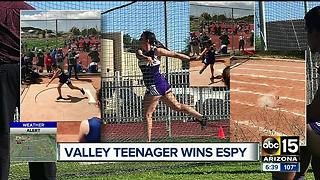 High school standout from the Valley wins an ESPY - Video