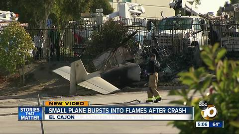 Plane crashes in El Cajon with 2 police officers on board