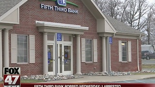 Fifth Third Bank robbed in Lansing - Video