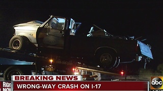 Several injured after wrong-way driver crash on I-17