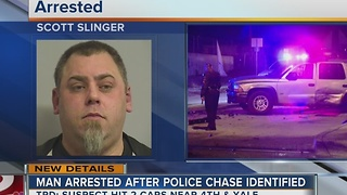 Tulsa Police identify man arrested after chase - Video