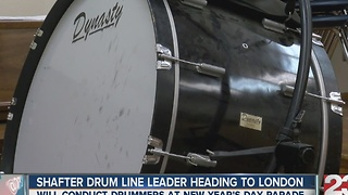 Shafter drumline leader heading to London - Video