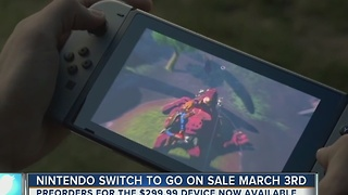 Nintendo Switch to go on sale March 3 - Video