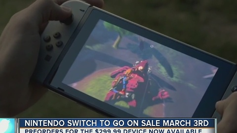 Nintendo Switch to go on sale March 3