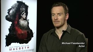 Fassbender reveals 'daunting' task of taking on 'Macbeth' - Video