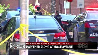 Police investigate quadruple shooting in NW Baltimore, 4 men injured - Video