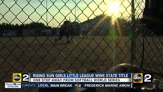 Rising Sun softball team looking for help on World Series run - Video