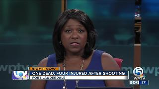 1 killed, 4 injured in Fort Lauderdale shooting - Video