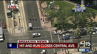 Suspect sought after hitting pedestrian at Central and Osborn in Phoenix - Video
