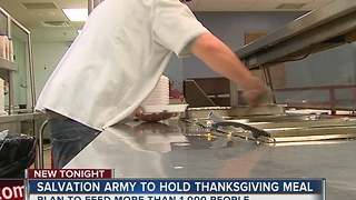 Salvation Army To Hold Thanksgiving Meal - Video