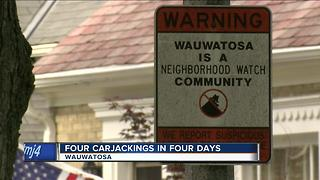 Four carjackings in four days in Wauwatosa - Video