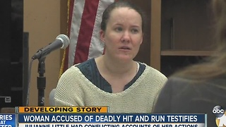 Woman accused of deadly hit and run testifies - Video