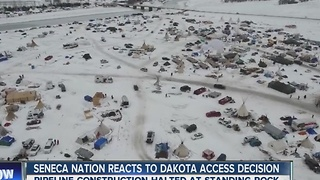 Seneca Nation reacts to Dakota Access Pipeline decision - Video