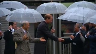 Prince William arrives in Japan