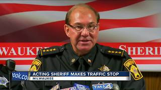Acting Sheriff makes traffic stop - Video