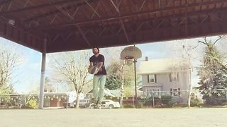 Skateboarding meets basketball in epic trick shot compilation - Video