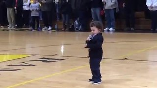 NFL Player's 2-Year-Old Son Belts Out National Anthem - Video