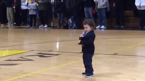NFL Player's 2-Year-Old Son Belts Out National Anthem