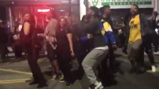Warriors Fans Dance on Streets to Celebrate NBA Championship - Video