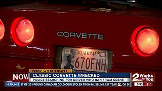 Tulsa Police searching for driver who wrecked classic corvette - Video
