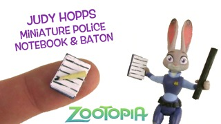 DIY miniature notebook, pencil and baton for Judy Hopps from Zootopia - Video