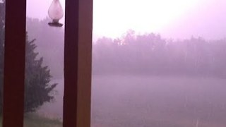 Lightning Strikes Close to Home During Storm - Video