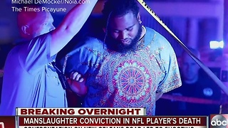 Manslaughter conviction in death of ex-NFL star - Video