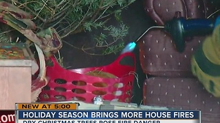 Christmas Tree Fire Danger - Video