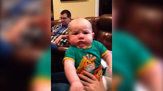 Grumpy Baby Makes The Best Faces - Video