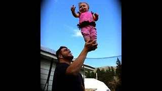 Daddy-Daughter Duo Show Incredible Balancing Skills - Video