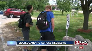 UNO students raise money skateboarding across state - Video