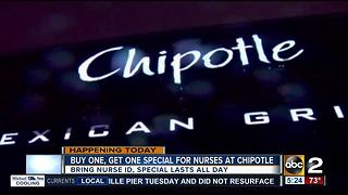 Chipotle gives back to nurses with BOGO deal - Video