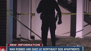 Man shot at apartments on Indy's northeast side - Video