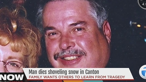 Man dies after snowblowing